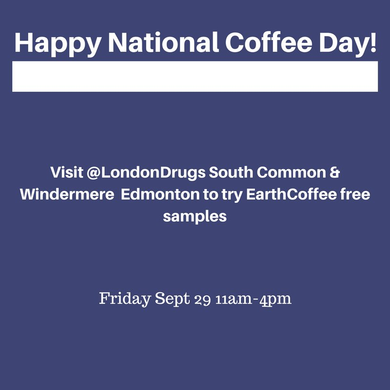 "The earth group on twitter: ""it's national coffee day! Swing by."