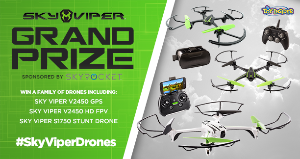 For the last Q, we're giving away a GRAND prize featuring THREE incredible @SkyViperDrones drones! #SkyViperDrones https://t.co/hyV8sOGEQT