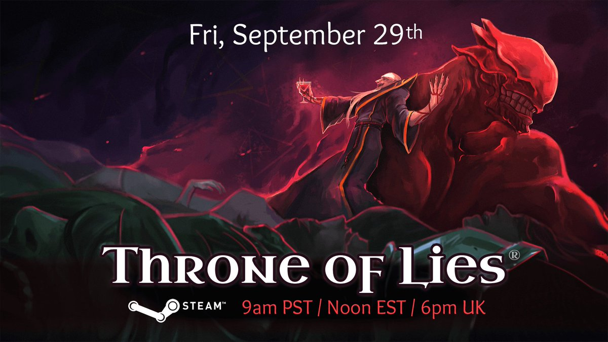 Throne of Lies, the highly anticipated online #game of Deceit, launches on Steam https://t.co/DYrDGXHc0J #gaming #indiegame #gamedevd#Spieleev