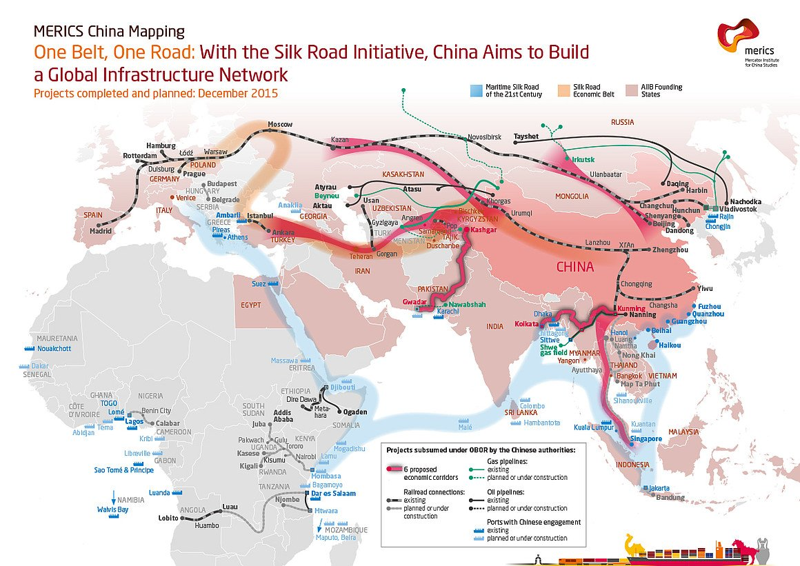 OnlMaps on Twitter Chinas One Belt One Road plan map maps