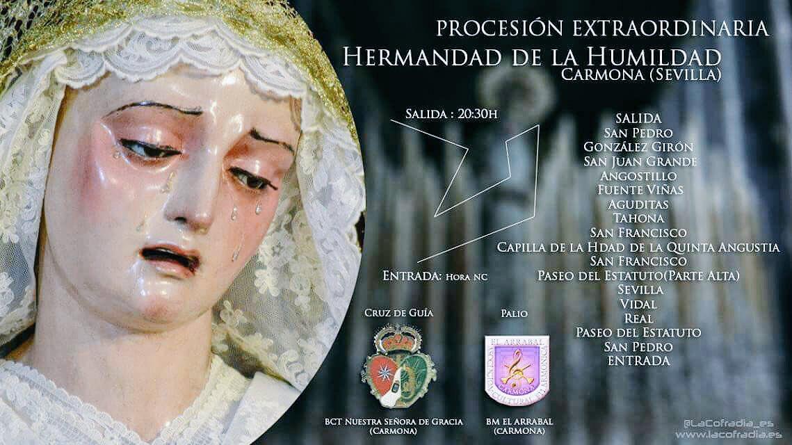 Resultado de imagen de Vídeo de la Salida extraordinaria de la Virgen de los Dolores de Carmona - CDL Aniversario Fundacional 2017
