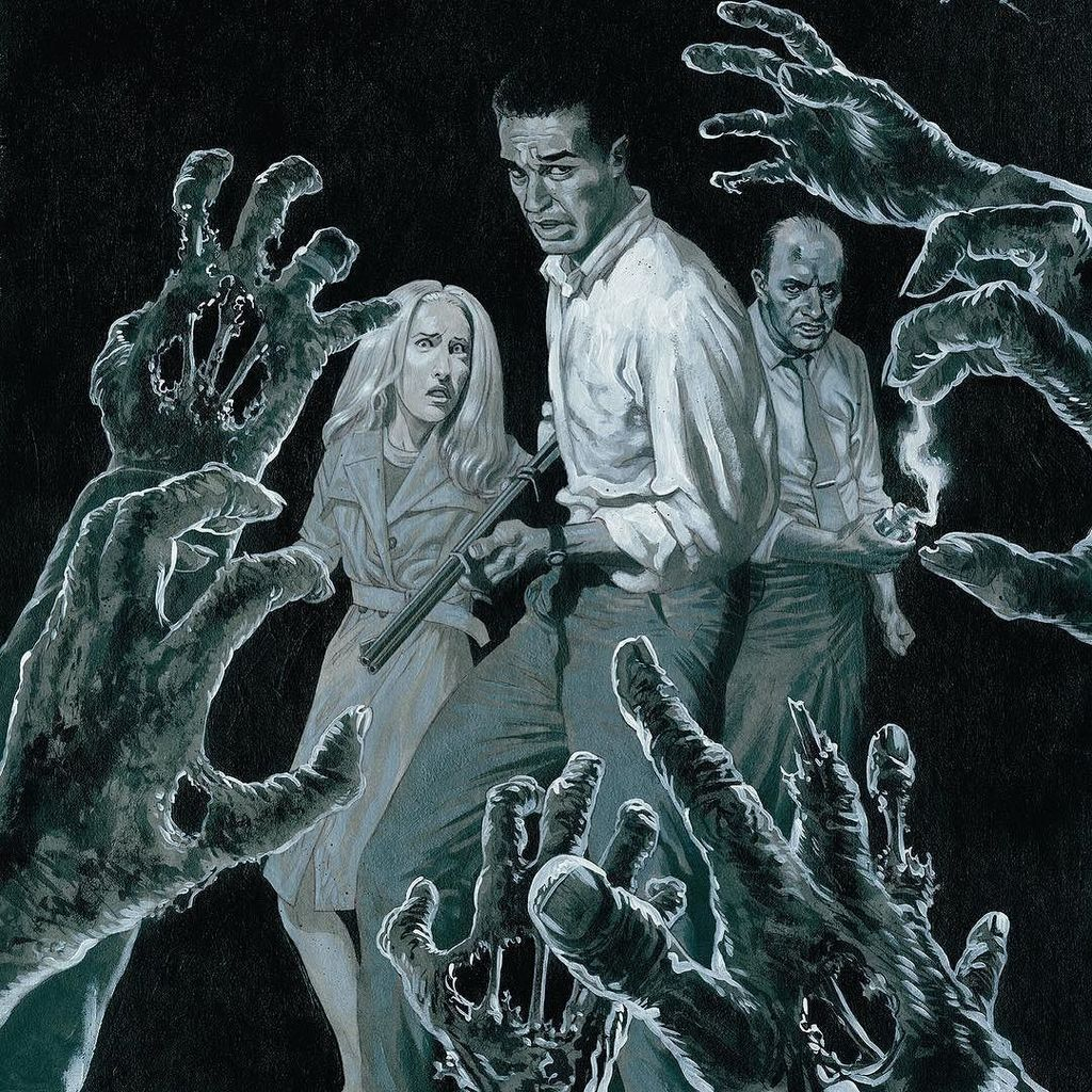 I painted a poster for a rerelease of Night Of The Living Dead https://t.co/ndeHo6uKe3 https://t.co/B5LtXvlUTK