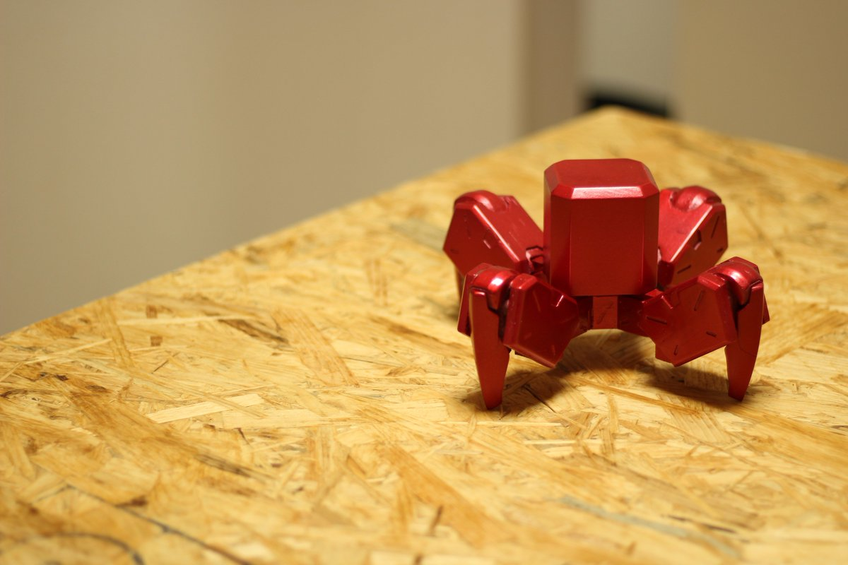 I fabricated a miniature of quadruped robot which I designed (1/8 scale). all handmade!!  #Fusion360