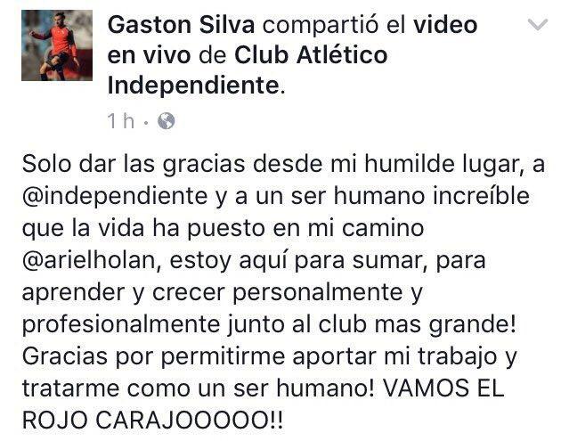 Silva, agradecido