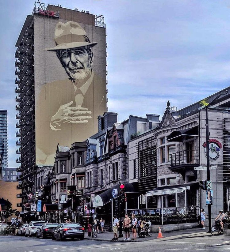 Remi francoeur remifrancoeur1 twitter for Mural leonard cohen