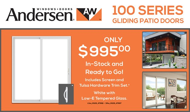 Andersen 100 Series Patio Doors