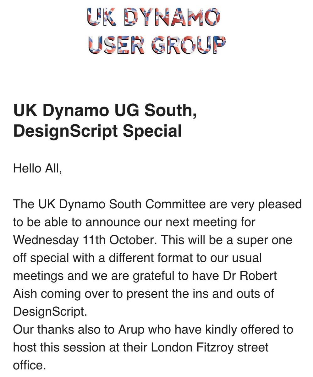 UK Dynamo User Group on Twitter: