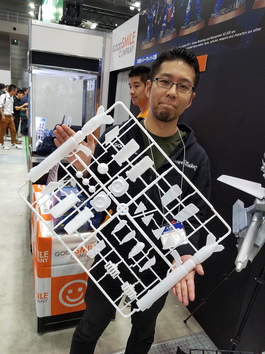 マックスファクトリーさんのVF-1(1/20!!!)のテストショットランナーwww すげぇwwゲートニパ子即死ww (プラバンニッパーとかでテストしようそうしよう) #全日本模型ホビーショー