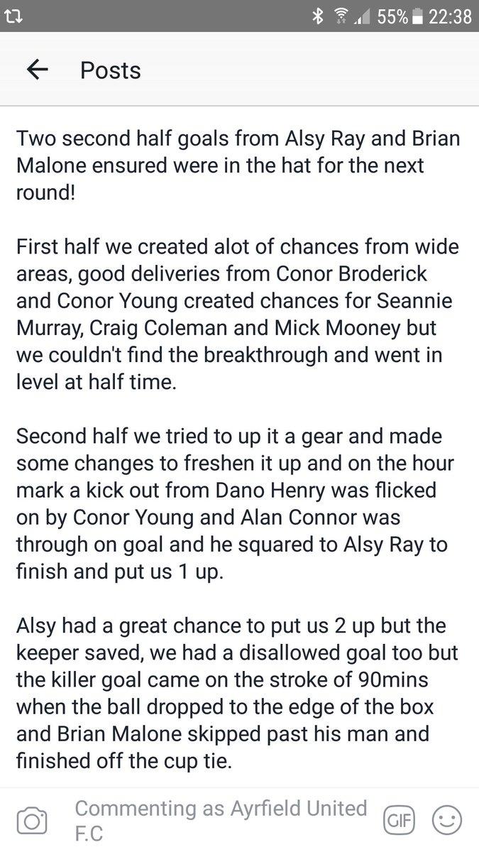 Ayrfield United F C  on Twitter: