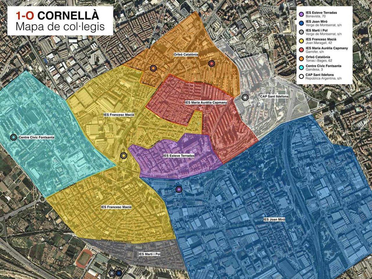 Cornella De Llobregat Mapa.Joan Tarda I Coma On Twitter El Mapa Dels Col Legis