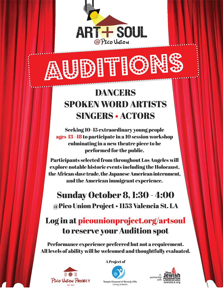 "rory pullens on twitter: ""students ages 13-18! auditions for art +"
