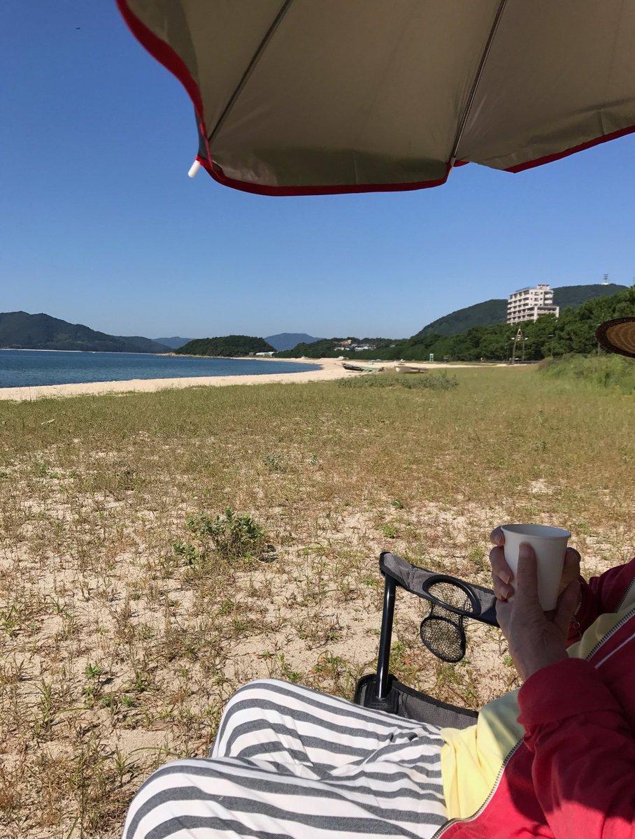 虹ヶ浜ビーチでピクニック。 いい天気なのにこのビーチで時間を楽しむ人がいない。 もったいないなー。 https://t.co/aEgk8XA7A7