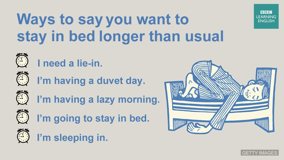 For those times when you just can't get out of bed.   #learnenglish