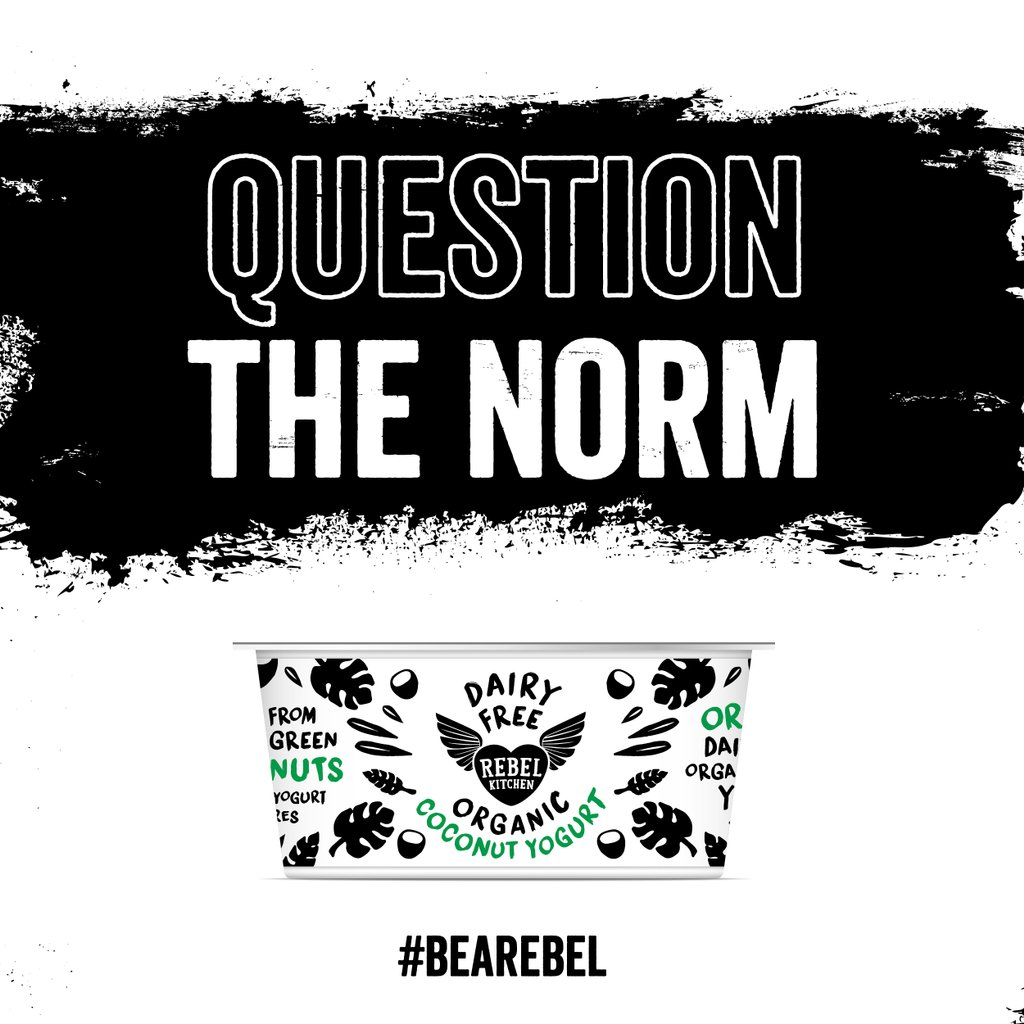 rebel kitchen on twitter question the norm doing things differently we do so by creating organic plant based products dairy free coconut yog anyone - Rebel Kitchen