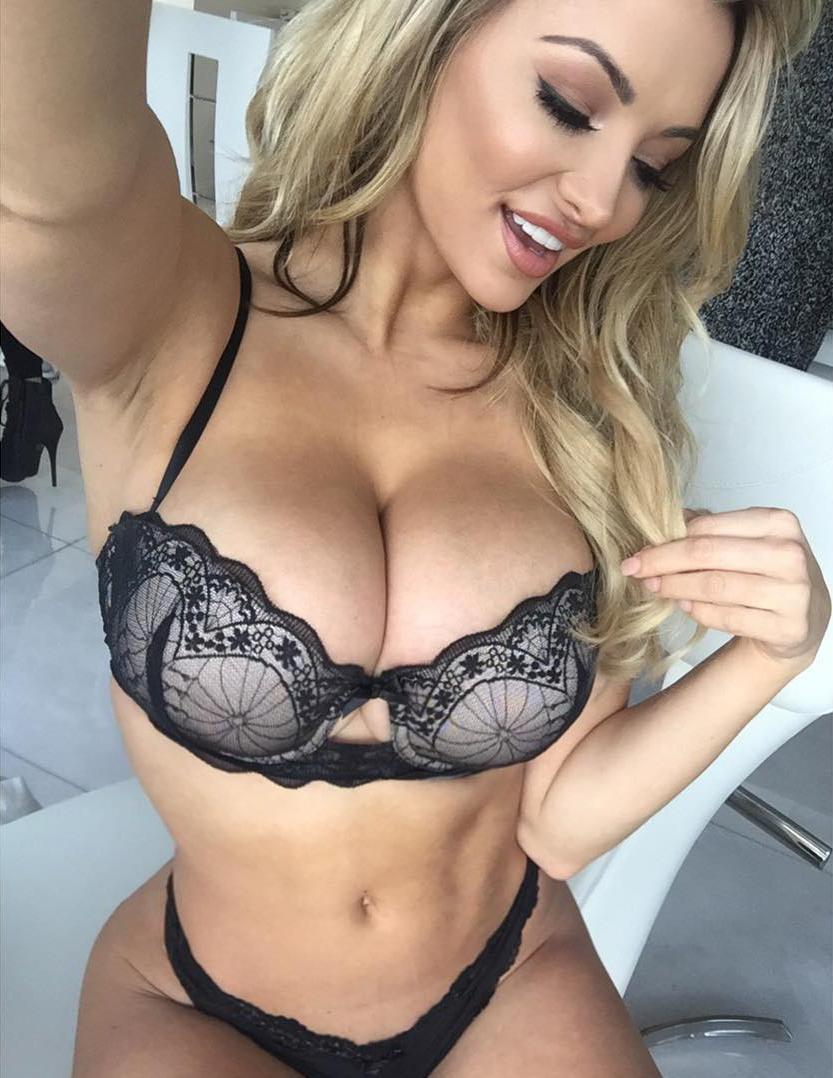 Hot blonde boob