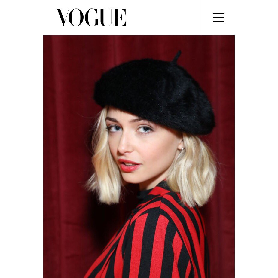 THANK YOU @BritishVogue @Topshop #LFW ✨ & @csimone_ for this cheeky beret