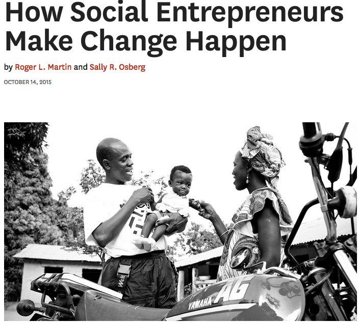 &quot;Social Entrepreneurship: How Social Entrepreneurs Make Change Happen&quot;  https:// hbr.org/2015/10/how-so cial-entrepreneurs-make-change-happen &nbsp; …  #socialentrepreneurship #startups<br>http://pic.twitter.com/bDCa0HPvGs