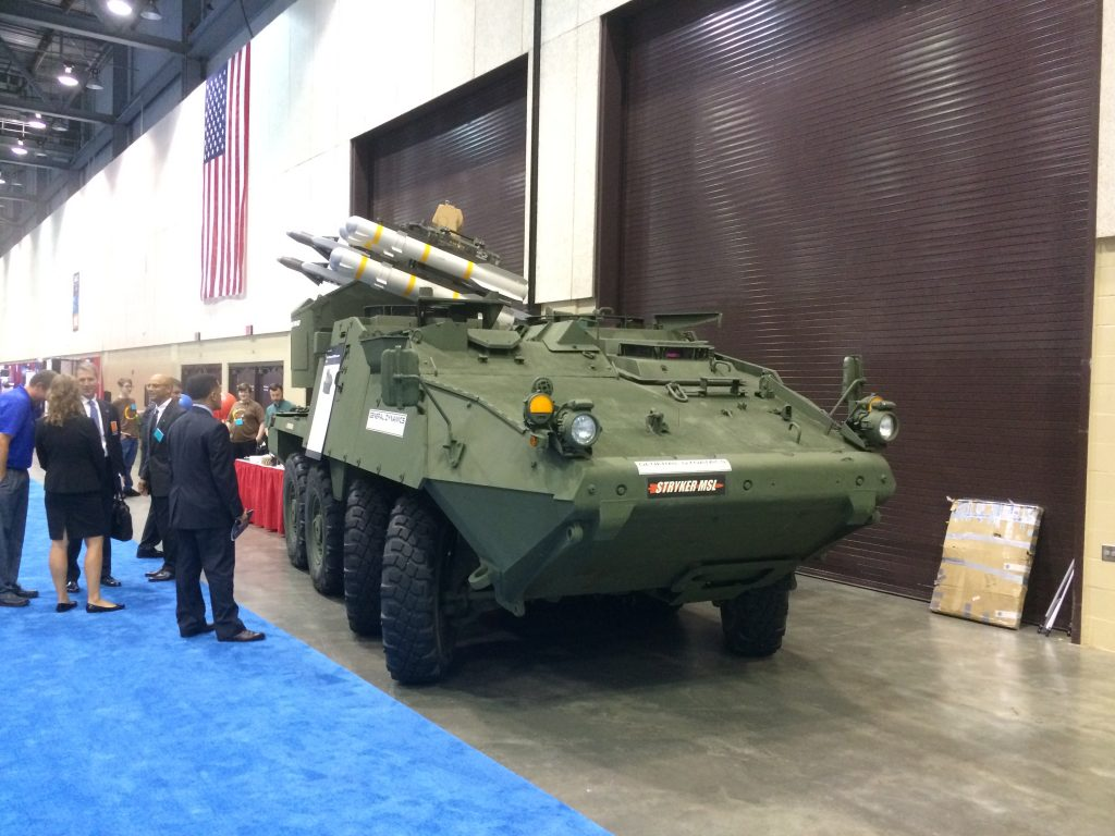 Anti-Aircraft Stryker vehicle debuted in Aug &#39;17 Awesome! Why didn&#39;t I hear about this! #Stryker MSL! @GDCorpNews<br>http://pic.twitter.com/hQIFAnSGaP
