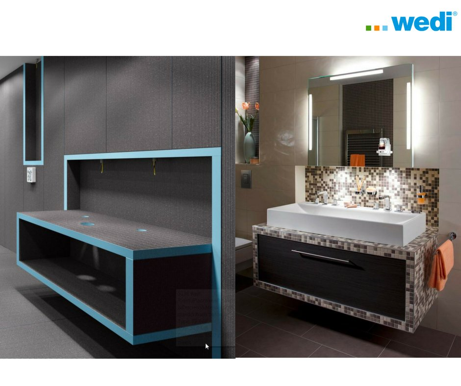 Use wedi building boards to create practical and unique storage solutions such as this elegant washstand! #bathroomdesign <br>http://pic.twitter.com/ettZ1s24j5