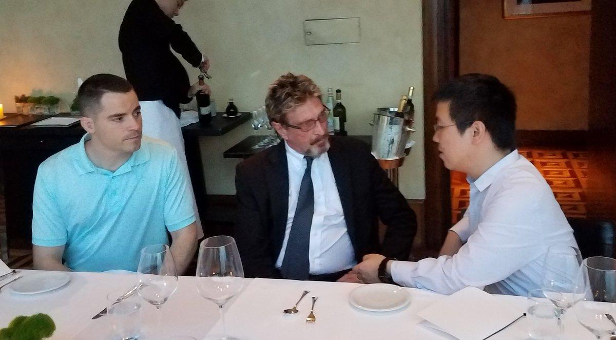 Джон МакАфи: запрет на биткоин в Китае не затронет майнинг