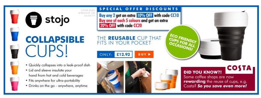 Save up to 20% on @stojoco collapsible cups  http:// ow.ly/5usx30feei3  &nbsp;    #RT #Follow #Win  Share #MultiBuy @TRDeals<br>http://pic.twitter.com/C6BeCLcGf4