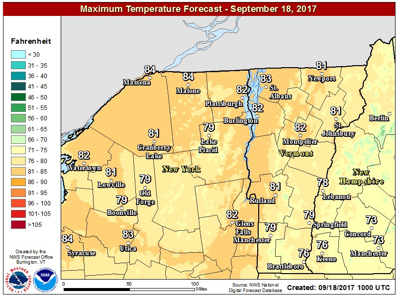 test Twitter Media - After morning fog burns off, another warm and sunny day is in store for the North Country today with most locations in the low 80's. https://t.co/Yk62Wq4LI5
