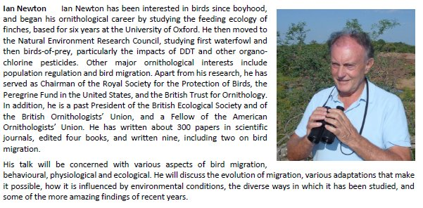 Some great speakers lined-up for BTO Northern Ireland Birdwatchers&#39; Conference 2017, including Ian Newton talking about #bird #migration<br>http://pic.twitter.com/1161HpKssK
