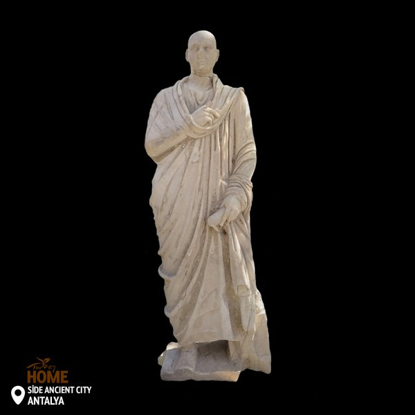 3 exceptional ancient statues of a female and two males from the third century A.D were discovered in the ancient town of #Side, #Antalya!<br>http://pic.twitter.com/QBuZzhbUXR