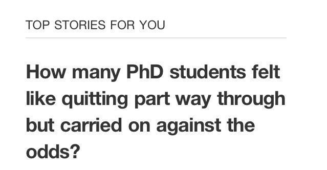 Since when does Quora read minds and offer reassurances? #phd #CarryingOnWithTheLastLegOnHandsAndLegs #Crawling <br>http://pic.twitter.com/jZE3qSJsld