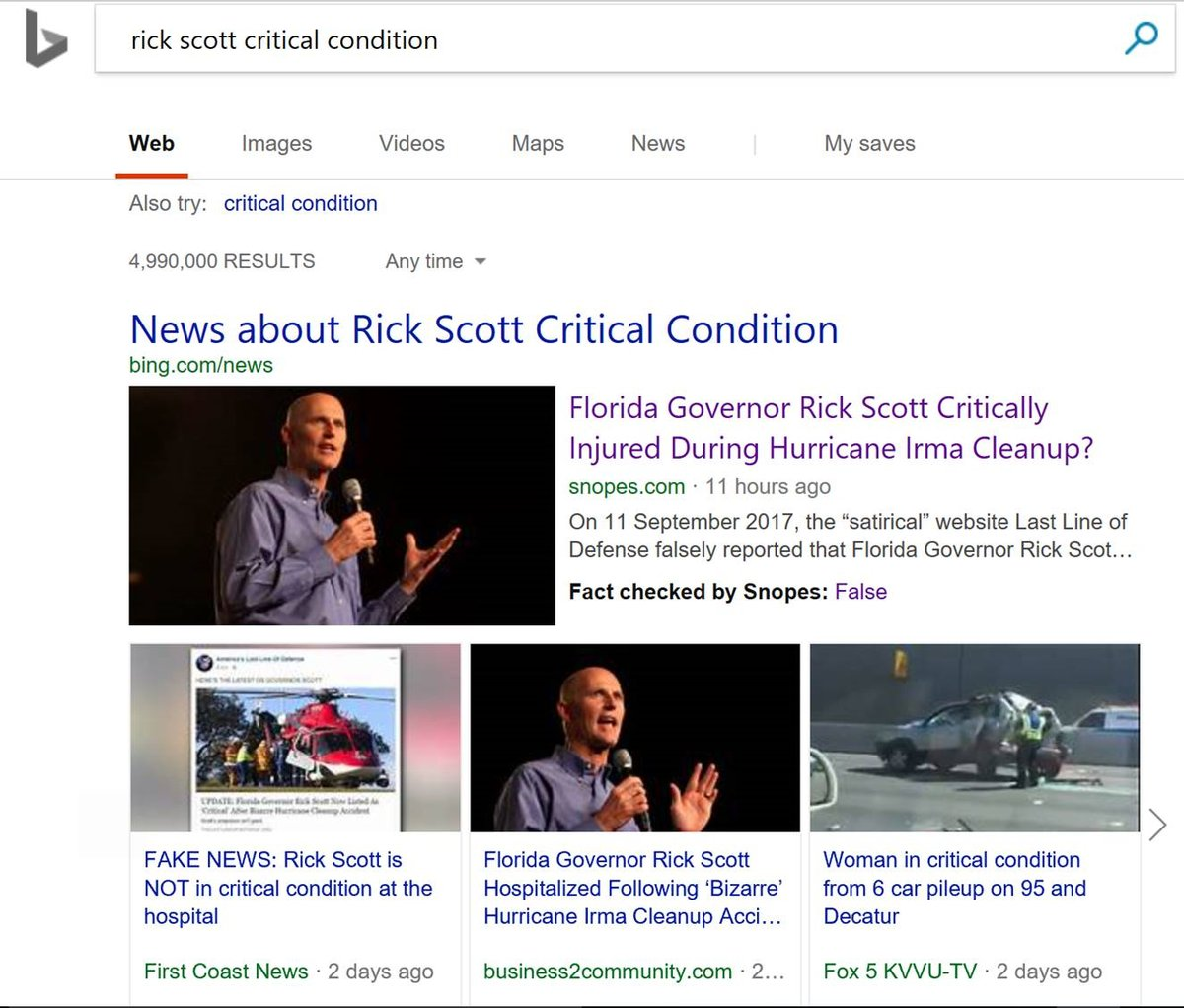 Bing launches Google-like fact-checking label
