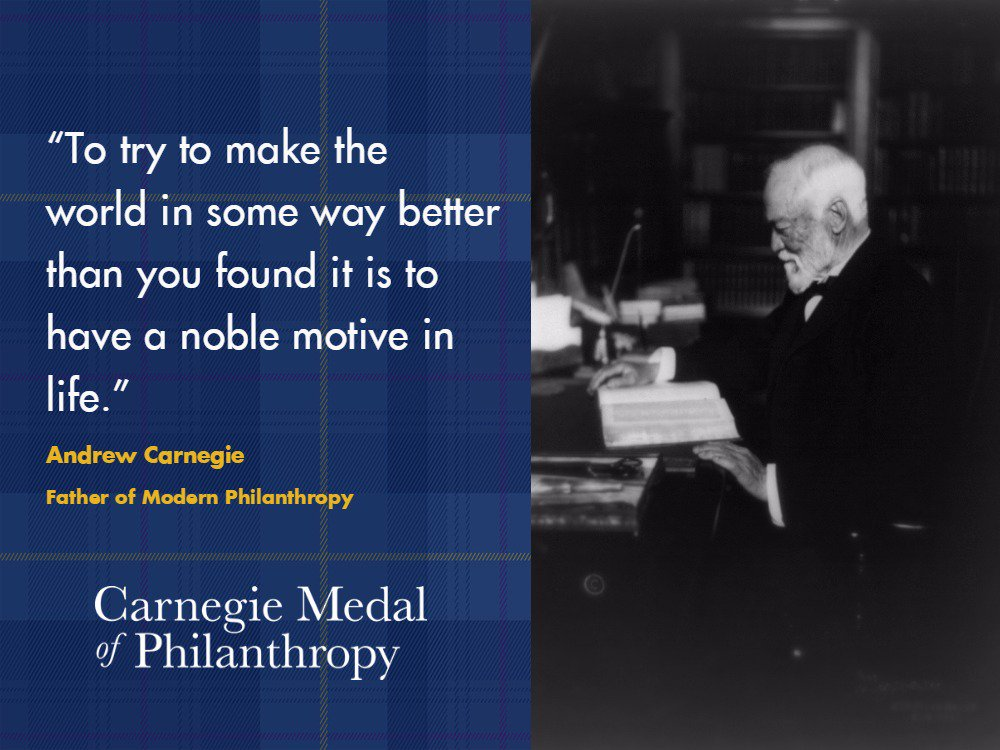 &quot;To try to make the world in some way better than you found it is to have a noble motive in life&quot; #MotivationalMonday #philanthropy #CMoP<br>http://pic.twitter.com/rKoP5oCX2w