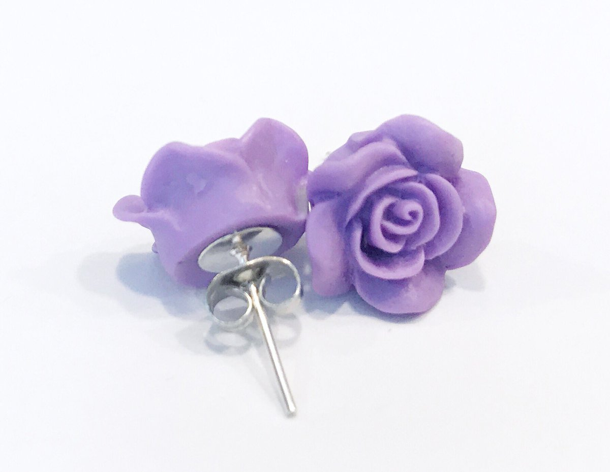 New rose  studs in various colors in my #Etsy shop :  http://www. missyrosestudios.com  &nbsp;   #EpicOnEtsy #EtsySeller #etsyjewerly #etsyretwt #craftshout<br>http://pic.twitter.com/IVBuQQ5ogc