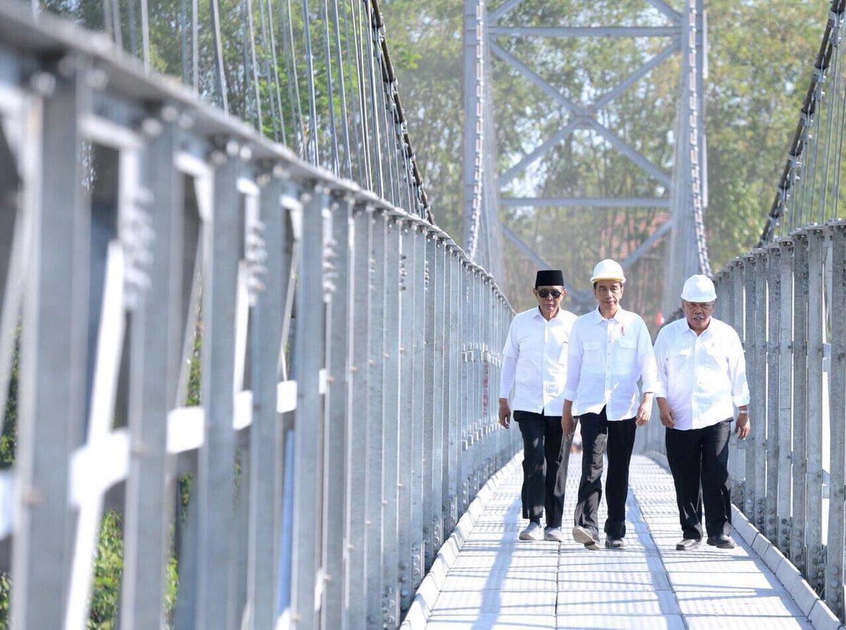 Jembatan Gantung Kampung Serab Depok Kini Mendapat Perhatian