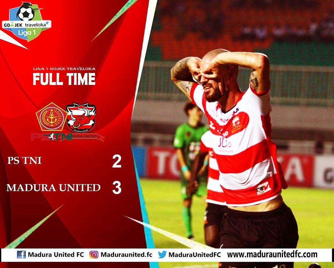 "Madura United: Madura United FC On Twitter: ""Full Time PS TNI (2) Vs"