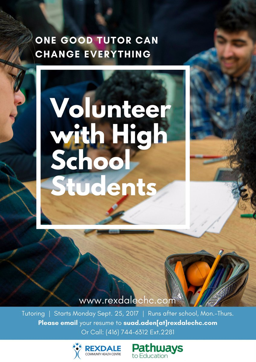 Want to give back? Interested in working with amazing high school students in Rexdale!? #edu #Toronto<br>http://pic.twitter.com/K1Hw9ghMiV