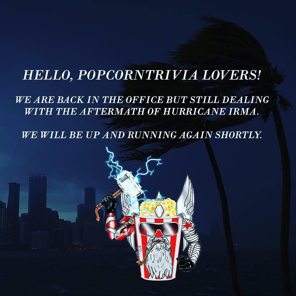 #popcorntrivia #hurricaneirma