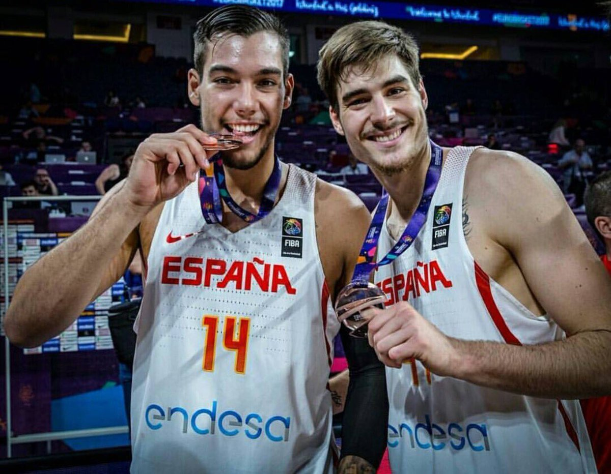 Was amazing play with you! Very proud of you brother @juanchohg14 #familyfirst  #Eurobasket2017 🥉🇪🇸🇪🇸