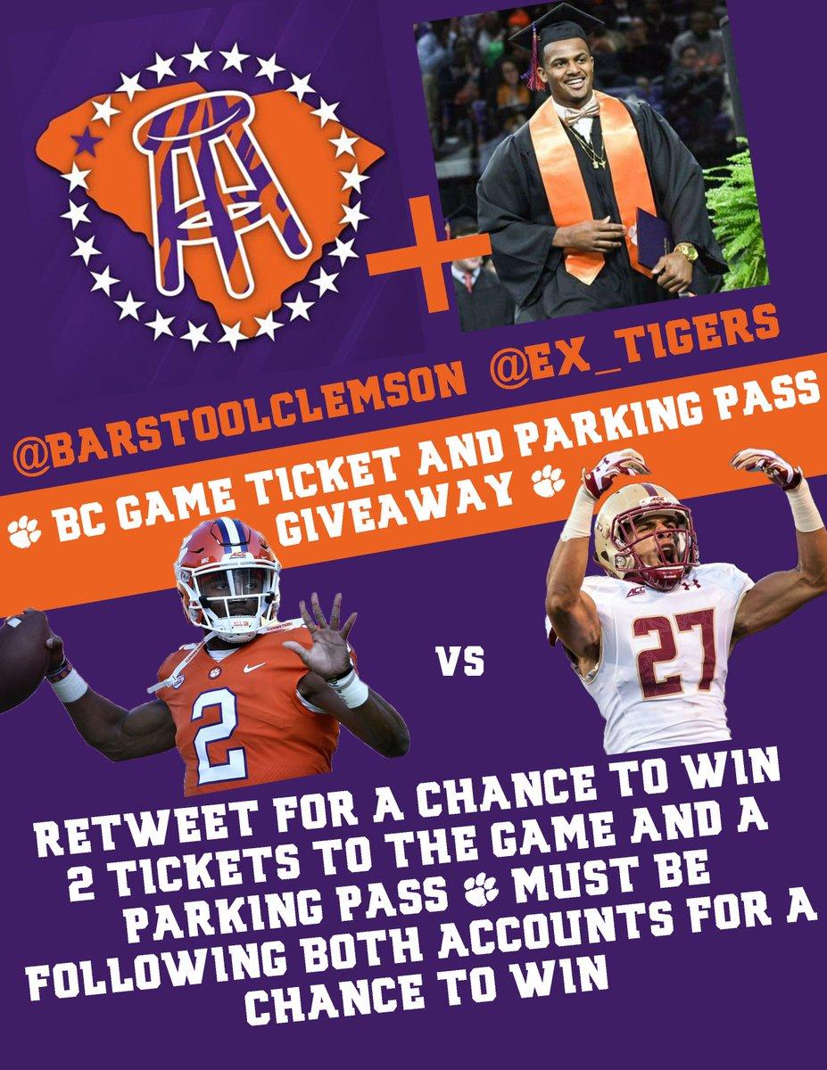 Winner announced on Friday! And be sure to follow @Ex_Tigers for helping us do this giveaway! #GoTigers #BeatBC https://t.co/D5s0viK412