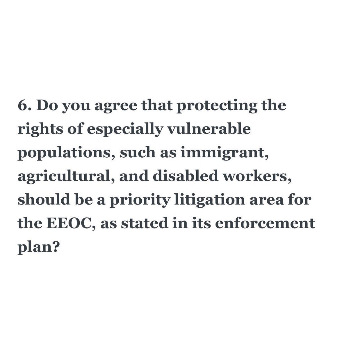 The EEOC has been vigorous in defending workers against egregious abuses like wage slavery, regardless of immigration status #EqualPay.