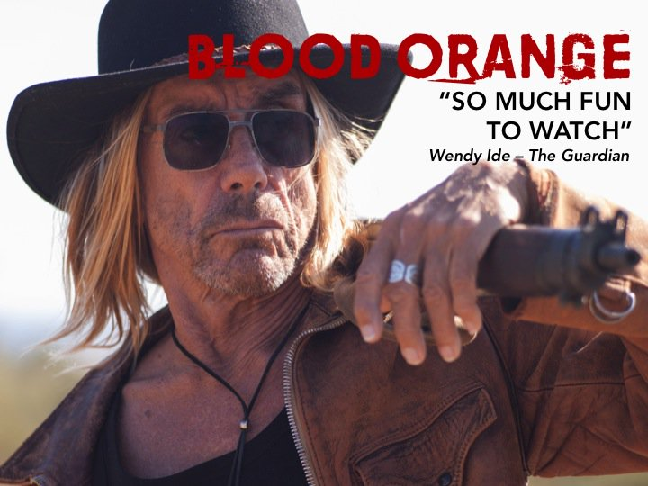 """#TheGuardian says it's """"so much fun to watch""""!  See #iggypop go for the jugular in Blood Orange @BloodOrangeFilm"""