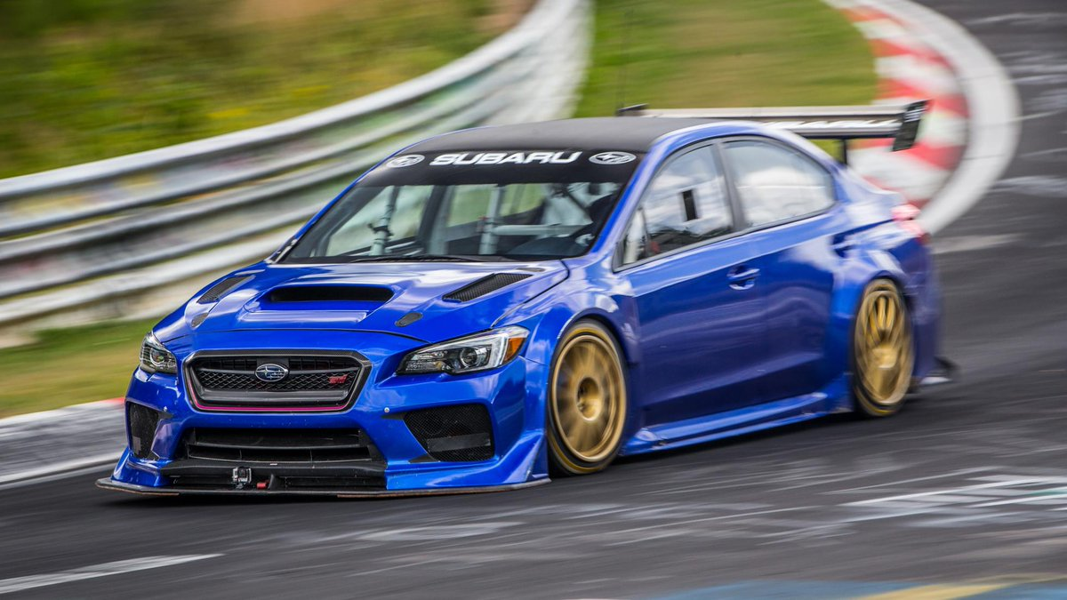 Click here for each car s actual lap time at caranddriver com look -  6m 57 5s Https Www Topgear Com Car News Modified Video Subaru Wrx Sti Laps Nurburgring 6m 575s Utm_source Twitter Utm_medium Referral Utm_campaign Car