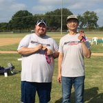 Big congrats to @syoungntx1 & Jiayu Sun for Men's Bronze in #cornhole at the #RichardsonCorporateChallenge! #EmployeesBeingAwesome @SOTexas