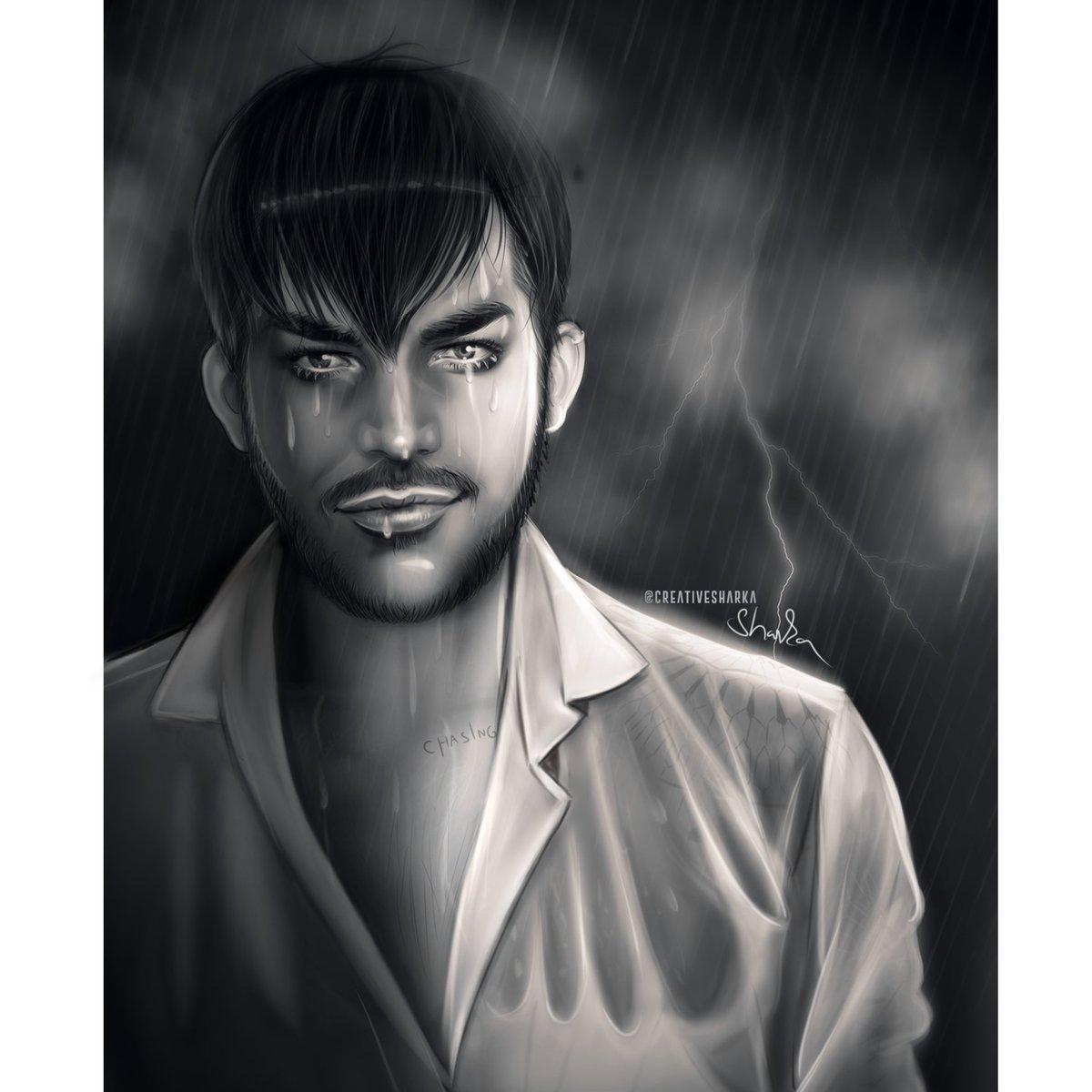 New digital painting &quot;rainy day&quot; @adamlambert #adamlambert #fanart IG: https://www. instagram.com/p/BZKJKvRlTg2/  &nbsp;  <br>http://pic.twitter.com/zNuniVN066