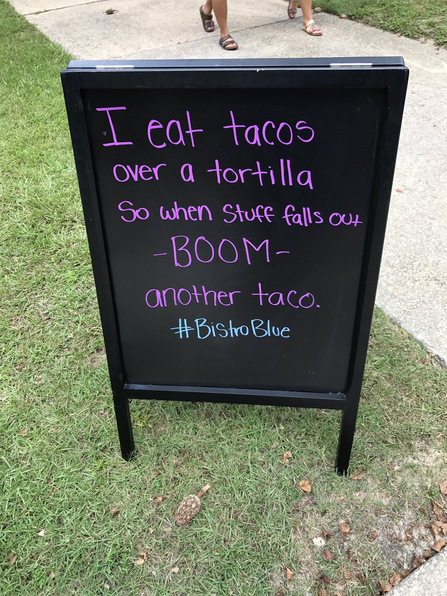 This is the best advice I&#39;ve received all month! #BistroBlue #UWF #sageadvice #tacos<br>http://pic.twitter.com/No4ViM1SqB