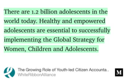 A4. #Adolescents are our future and must be involved for sustainable progress for #RMNCAH. #CitizensVoices #EWECisME  http:// bit.ly/Youthled  &nbsp;  <br>http://pic.twitter.com/vGZ5KrmdYk