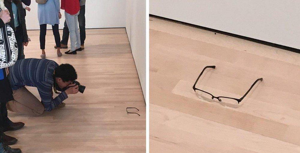 Visitantes confundem óculos no chão como obra de arte nos EUA https://t.co/zN0j8ccXPd #G1