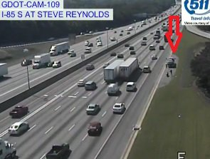 Crash: I-85/sb at Steve Reynolds Blvd; on the right shoulder; delays;https://t.co/YULjFukFkK; #ATLTRAFF https://t.co/MRt400rrCq