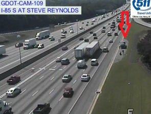 Crash: I-85/sb at Steve Reynolds Blvd; on the right shoulder; delays;https://t.co/N52KLd61yS; #ATLTRAFF https://t.co/MmK1iCw7va