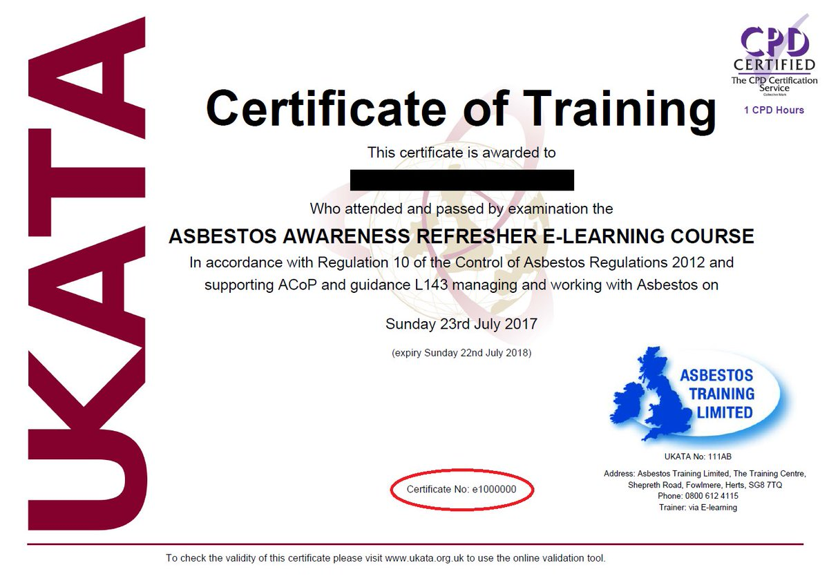 Asbestos Training On Twitter Asbestos Training Limited Recently