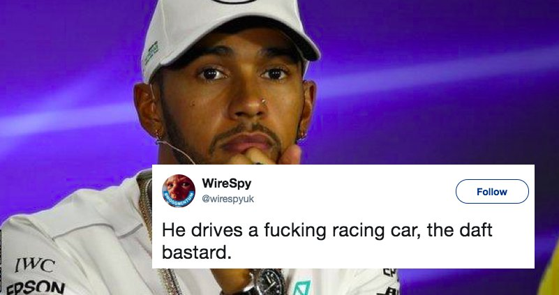 Lewis Hamilton goes vegan to help save the planet https://t.co/S1bwnGM2ie